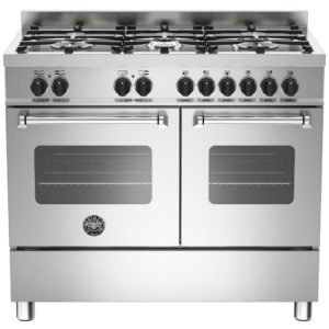Bertazzoni MAS100-6-MFE-D-XE 100cm Master Dual Fuel Range Cooker - STAINLESS STEEL