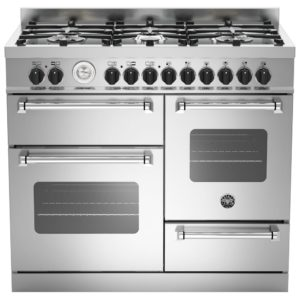 Bertazzoni MAS100-6-MFE-T-XE 100cm Master XG Dual Fuel Range Cooker – STAINLESS STEEL
