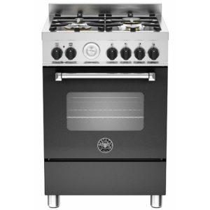 Bertazzoni MAS60-4-MFE-S-NEE 60cm Master Freestanding Dual Fuel Cooker - BLACK