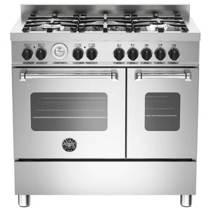 Bertazzoni MAS90-5-MFE-D-XE 90cm Master Dual Fuel Twin Range Cooker - STAINLESS STEEL
