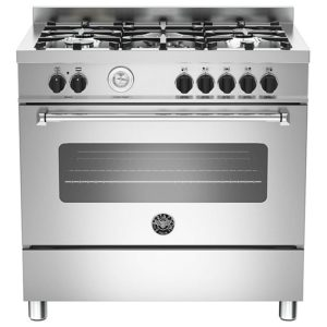 Bertazzoni MAS90-5-MFE-S-XE 90cm Master Dual Fuel Range Cooker - STAINLESS STEEL