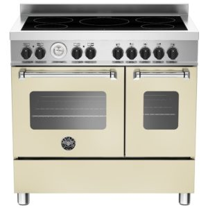 Bertazzoni MAS90-5I-MFE-D-CRE 90cm Master Series Induction Twin Range Cooker – CREAM