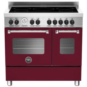 Bertazzoni MAS90-5I-MFE-D-VIE 90cm Master Series Induction Twin Range Cooker – BURGUNDY