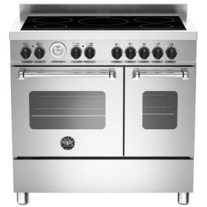 Bertazzoni MAS90-5I-MFE-D-XE 90cm Master Series Induction Twin Range Cooker – STAINLESS STEEL