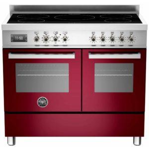 Bertazzoni PRO100-5I-MFE-D-VIT 100cm Professional Induction Range Cooker – BURGUNDY