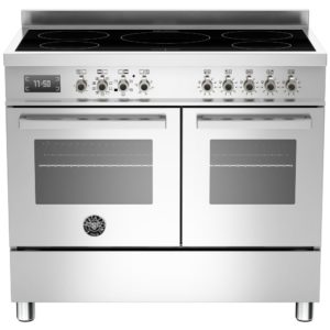 Bertazzoni PRO100-5I-MFE-D-XT 100cm Professional Induction Range Cooker – STAINLESS STEEL