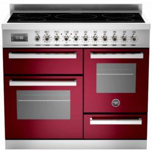 Bertazzoni PRO100-5I-MFE-T-VIT 100cm Professional XG Induction Range Cooker – BURGUNDY