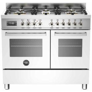 Bertazzoni PRO100-6-MFE-D-BIT 100cm Professional Dual Fuel Range Cooker – WHITE