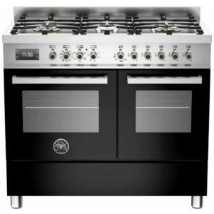 Bertazzoni PRO100-6-MFE-D-NET 100cm Professional Dual Fuel Range Cooker – BLACK