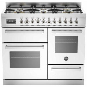 Bertazzoni PRO100-6-MFE-T-BIT 100cm Professional XG Dual Fuel Range Cooker – WHITE
