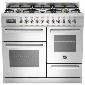 Bertazzoni PRO100-6-MFE-T-XT 100cm Professional XG Dual Fuel Range Cooker – STAINLESS STEEL