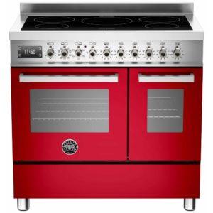 Bertazzoni PRO90-5I-MFE-D-ROT 90cm Professional Induction Twin Range Cooker – RED