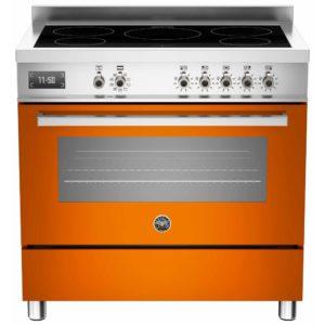 Bertazzoni PRO90-5I-MFE-S-ART 90cm Professional Induction Range Cooker – ORANGE