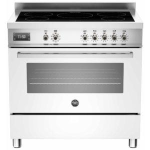 Bertazzoni PRO90-5I-MFE-S-BIT 90cm Professional Induction Range Cooker – WHITE