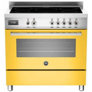 Bertazzoni PRO90-5I-MFE-S-GIT 90cm Professional Induction Range Cooker – YELLOW
