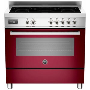 Bertazzoni PRO90-5I-MFE-S-VIT 90cm Professional Induction Range Cooker – BURGUNDY