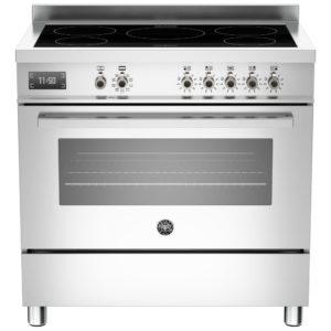Bertazzoni PRO90-5I-MFE-S-XT 90cm Professional Induction Range Cooker – STAINLESS STEEL