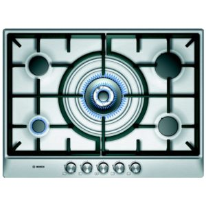 Bosch PCQ715B90E 70cm Serie 6 5 Burner Gas Hob - STAINLESS STEEL