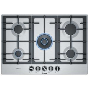 Bosch PCQ7A5B90 75cm Serie 6 5 Burner FlameSelect Gas Hob – STAINLESS STEEL
