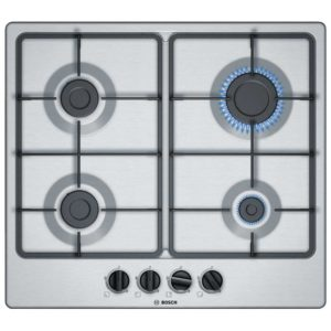 Bosch PGP6B5B60 60cm Serie 4 4 Burner Gas Hob – STAINLESS STEEL