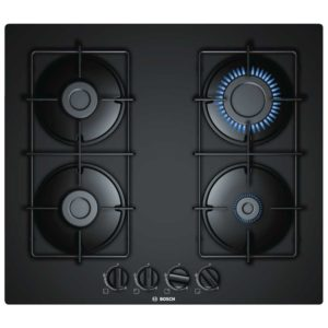 Bosch PNP6B6B80 60cm Serie 4 Frameless Gas On Glass Hob – BLACK