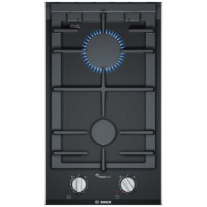 Bosch PRB3A6D70 Serie 8 Domino FlameSelect Gas On Glass Hob – STAINLESS STEEL