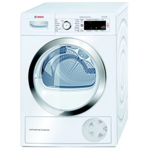 Bosch WTW87560GB 9kg Heat Pump Condenser Dryer - WHITE