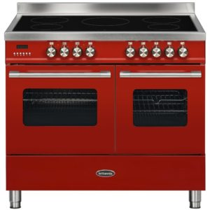 Britannia RC-10TI-DE-RED 100cm Delphi Induction Range Cooker – RED
