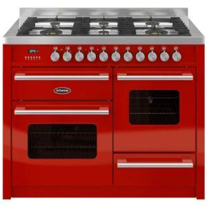 Britannia RC-11XGG-DE-RED 110cm Delphi XG Dual Fuel Range Cooker – RED