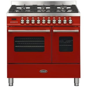 Britannia RC-9TG-DE-RED 90cm Delphi Dual Fuel Twin Oven Range Cooker – RED