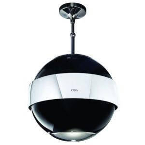 CDA 3S10BL 48cm Spherical Island Hood - BLACK