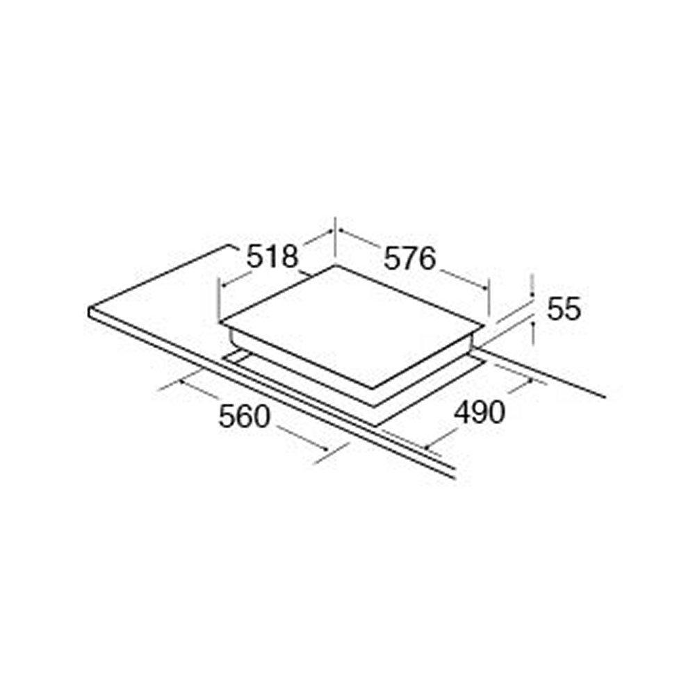 cda hn6111fr 60cm frameless 4 zone induction hob