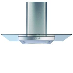 CDA ECN92SS 90cm Flat Glass Chimney Hood – STAINLESS STEEL