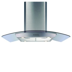 Caple CGI920RED 90cm Reduced Height Curved Glass Island Hood – STAINLESS STEEL