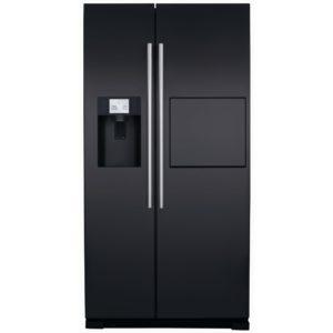 CDA PC71BL American Fridge Freezer With Ice Water & Homebar - BLACK