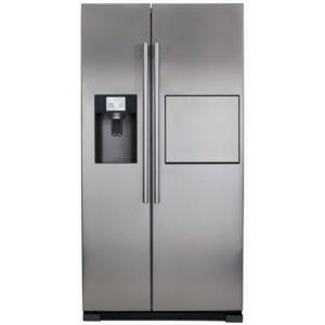 CDA PC71SC American Fridge Freezer With Ice Water & Homebar - SILVER