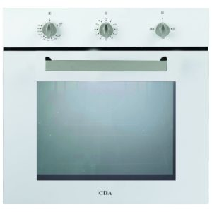 CDA SG120WH Built In Single Fanned Gas Oven - WHITE
