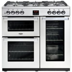 Belling COOKCENTRE 90DFTPROFSTA 4069 90cm Dual Fuel Range Cooker – STAINLESS STEEL