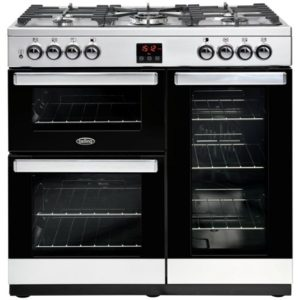 Belling COOKCENTRE 90DFTSTA 4070 90cm Dual Fuel Range Cooker – STAINLESS STEEL