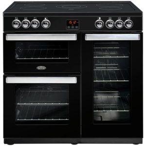 Belling COOKCENTRE 90EBLK 4074 90cm Ceramic Range Cooker – BLACK