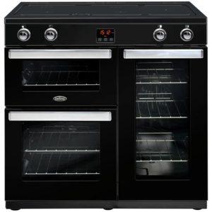 Belling COOKCENTRE 90EIBLK 4080 90cm Induction Range Cooker – BLACK