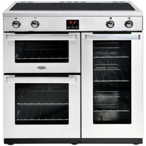 Rangemaster PLAT90EIBL/C Platinum 90cm Induction Range Cooker 106830 – BLACK
