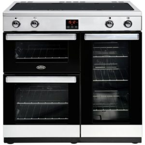Belling COOKCENTRE 90EISTA 4079 90cm Induction Range Cooker - STAINLESS STEEL