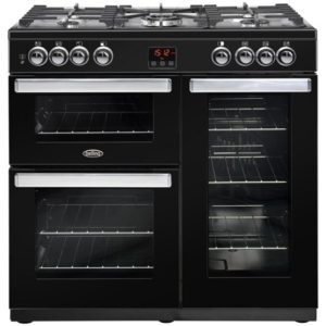 Belling COOKCENTRE 90GBLK 4077 90cm Gas Range Cooker - BLACK