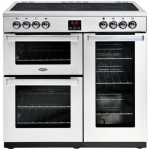 Belling COOKCENTRE 110EPROFSTA 4102 110cm Ceramic Range Cooker – STAINLESS STEEL