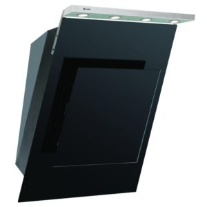 Caple AS611BK 60cm Chimney Hood - BLACK
