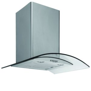 Caple CGC610SS 60cm Curved Glass Chimney Hood - STAINLESS STEEL