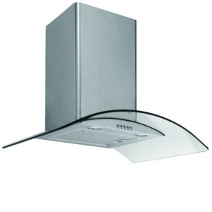 Caple CGC710SS 70cm Curved Glass Chimney Hood - STAINLESS STEEL