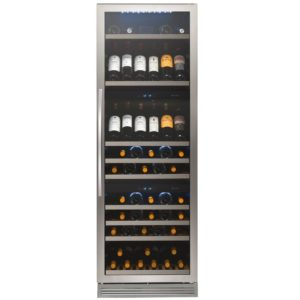 Caple WF1548 60cm Freestanding Triple Zone Wine Cooler – STAINLESS STEEL