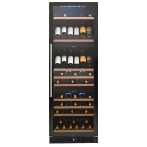 Caple WF1549 60cm Freestanding Triple Zone Wine Cooler – BLACK